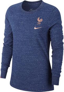 Nike FFF W NK LS TEE TRAVEL blau