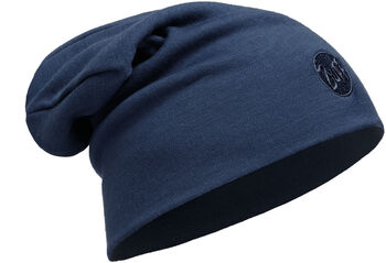 Buff Merinowolle Heavyweight Mütze blau