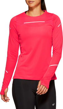 Asics LITE-SHOW 2 Langarmshirt mit Halfzip Damen pink