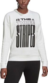 adidas W MHE GR Sweater Damen weiß