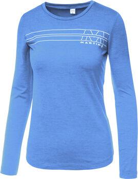 MARTINI Solid Langarmshirt Damen blau