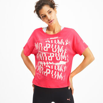 Puma HIT Feel It T-Shirt Damen pink