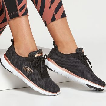Skechers Flex Appeal 3.0 W Fitnessschuhe Damen schwarz