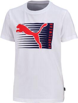 Puma Cat Logo Tee T-Shirt Jungen weiß