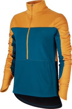 Nike Repel Langarmshirt mit Halfzip Damen orange