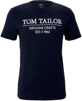 TOM TAILOR With Print T-Shirt Herren blau