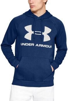 Under Armour Rival Fleece Logo Hoodie Herren blau