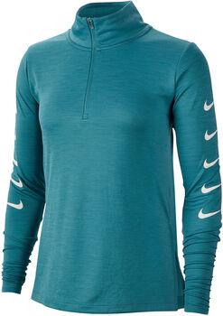 Nike Swoosh Langarmshirt mit Halfzip Damen grün