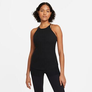 Nike Yoga Pointelle Tanktop Damen schwarz