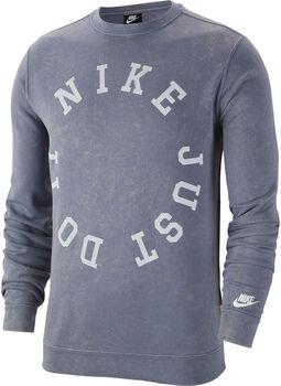 Nike Nsw Ce Crw Ft Wash Herren blau