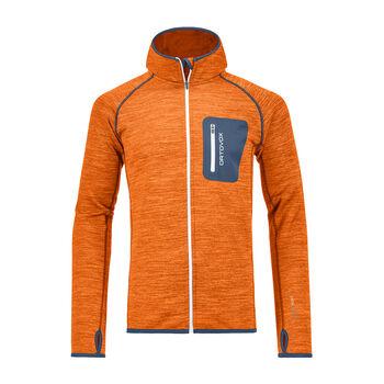 ORTOVOX  Fleece Melange MHr. Fleecejacke mit Kapuze Herren orange