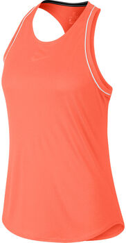 Nike ct Dry Tennisshirt Damen orange