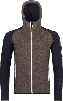 ORTOVOX Fleece Plus Classic Knit Hoodie Herren schwarz