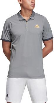 ADIDAS New York Poloshirt Herren grau