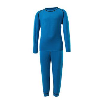 LÖFFLER Transtex® Warm 3/4 Unterwäschenset  blau