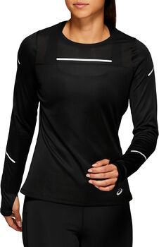 Asics LITE-SHOW 2 Langarmshirt mit Halfzip Damen schwarz