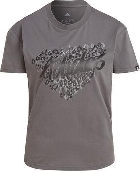 adidas Leopard Graphic T-Shirt Damen grau