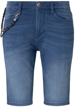 TOM TAILOR Knit Denim Short Herren blau