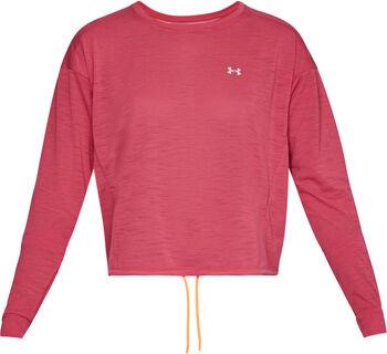 Under Armour Whisperlight Crop Sweater Damen pink