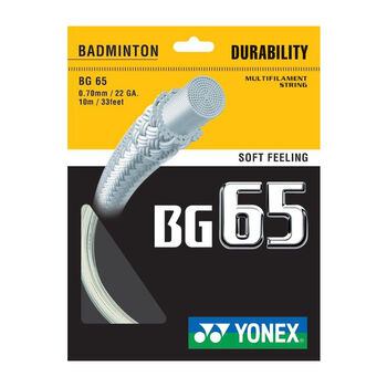 Yonex BG 65 TI - Badmintonsaite weiß