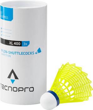 TECNOPRO XL 400 3er Pack Badmintonbälle  gelb