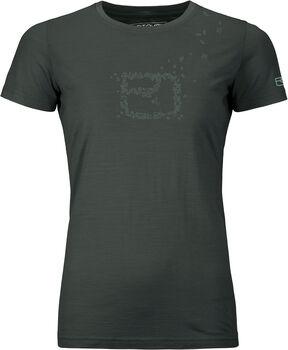ORTOVOX 150 Cool Leaves T-Shirt Damen grün