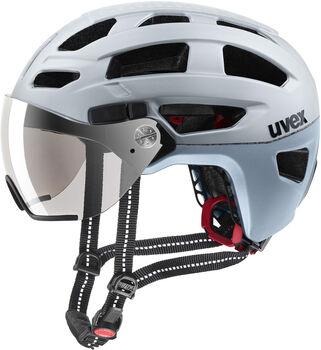 Uvex Finale Visor Fahrradhelm Herren weiß
