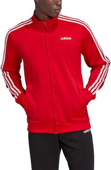ADIDAS Essentials 3-Streifen Tricot Trainingsjacke Herren rot