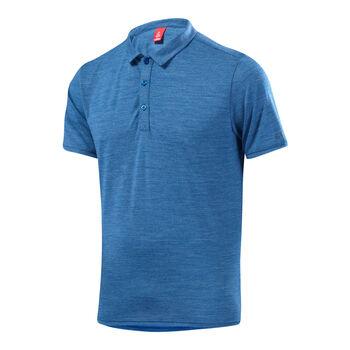 LÖFFLER Poloshirt Merino Herren blau