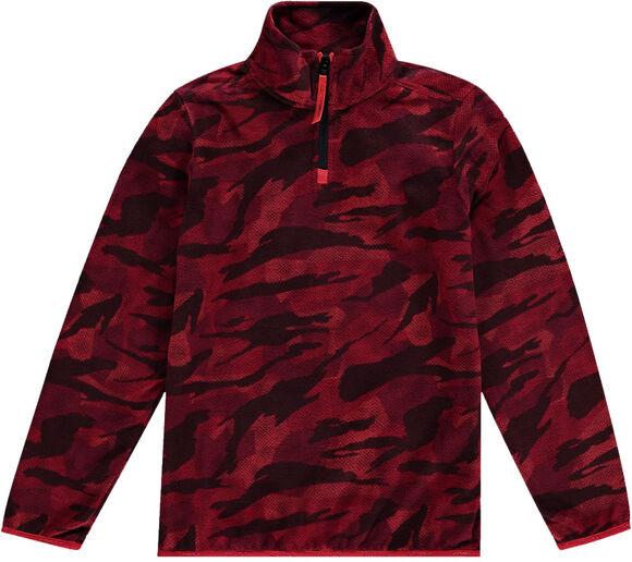 Camo Fleece Hz Sweater mit 1/2 Zipp