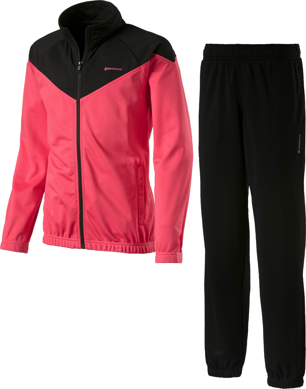 Bekleidung adidas Kinder Shiny Hooded Jogginganzug