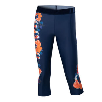 Desigual Camo Flower Capri Leggings Damen blau