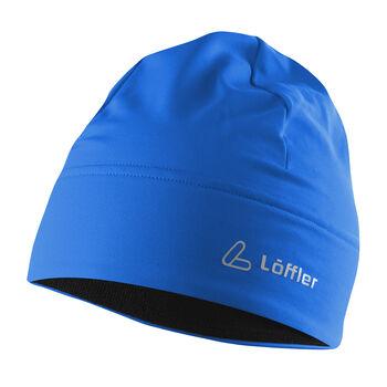 LÖFFLER Mütze Mono blau