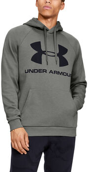 Under Armour Rival Fleece Logo Hoodie Herren grün