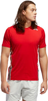 adidas FreeLift 3-Streifen T-Shirt Herren rot