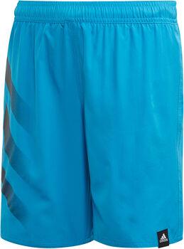 adidas Bold 3-Streifen Badeshorts blau