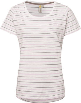 Roadsign Striped Summer T-Shirt Damen lila