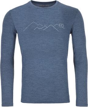 ORTOVOX 185 Merino Mountain Langarmshirt Herren blau