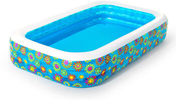 Bestway Happy Flora Family Pool transparent