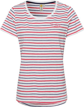 Roadsign Striped Summer T-Shirt Damen rot