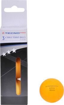 TECNOPRO 3* 3-er Pack Tischtennisbälle  orange