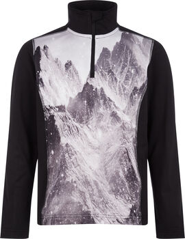 McKINLEY Daniston Langarmshirt mit Half Zip schwarz