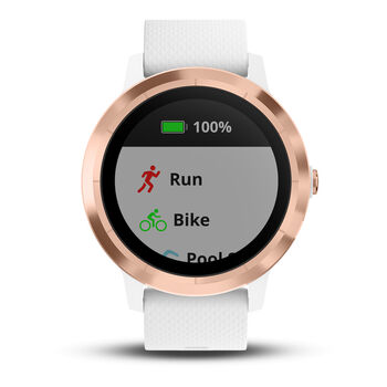 Garmin Vivoactive 3 GPS-Multisportuhr cremefarben