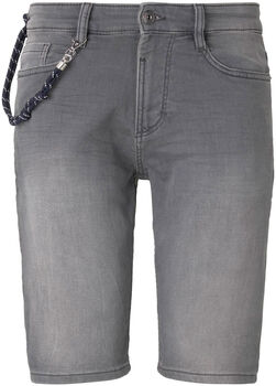 TOM TAILOR Knit Denim Short Herren grau