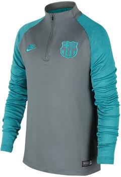 Nike Dri-FIT FC Barcelona Strike Drill Langarmshirt mit Halfzip Jungen grau