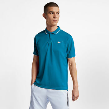 Nike Court Dri-Fit T-Shirt Herren blau