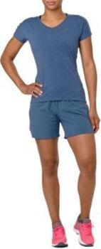 Asics V-NECK SS T-Shirt Damen blau