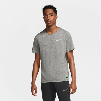 Nike  M NK DF Brth Rise 365Herren T-Shirt grau