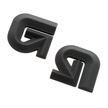 Burton Aluminium Logo Mat schwarz