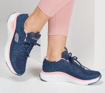 Skechers Solar Fuse - Brisk Fitnessschuhe Damen blau